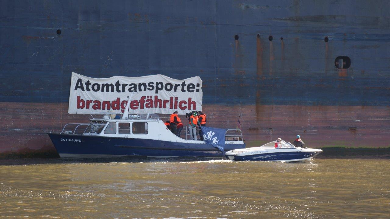 Handlungsbedarf für rot-grünen Senat: 48 Atomtransporte durch Hamburg in drei Monaten