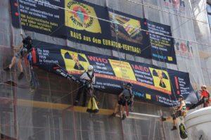 Aktion gegen Euratom in Wien im Sommer 2014, Foto: Thomas Neff/plage.cc