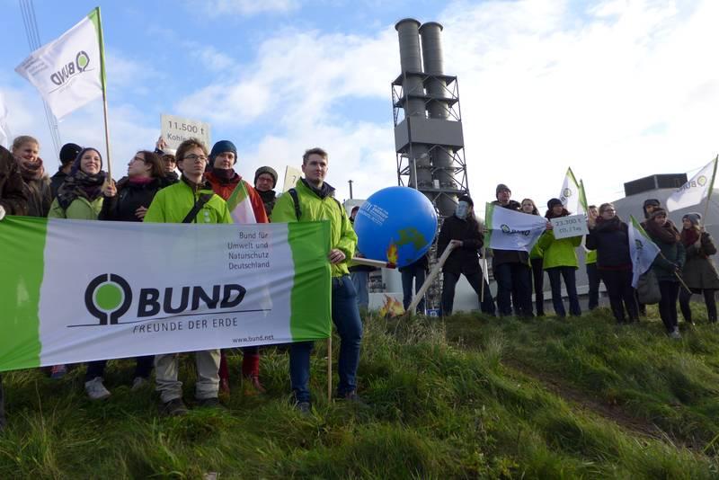 BUND-Hamburg-gegen Moorburg und Klimakatastrophe