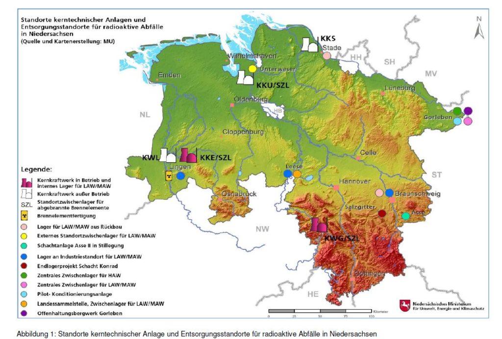 Atom-Standorte Niedersachen - NMU-2015