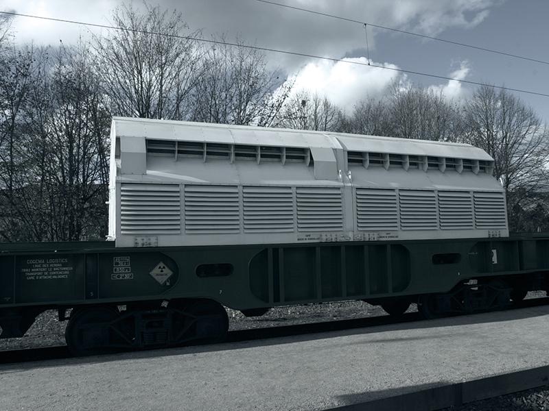 Hochradioaktiver Castor-Transport zum Zwischenlager Biblis