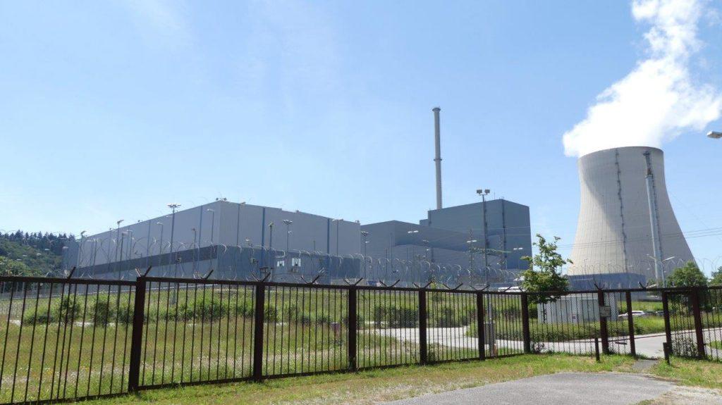 AKW Isar/Ohu im Landkreis Landshut. Das Castor-Zwischenlager neben dem abgeschalteten Reaktorblock 1