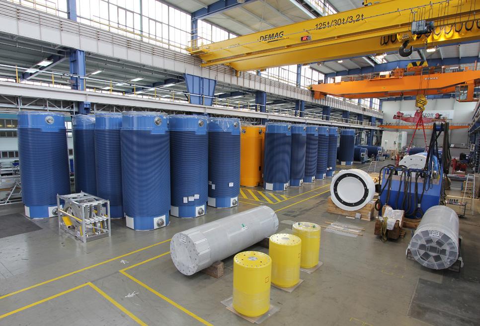 Castoren-Fertigung bei GNS - Wie sehen die künftigen Anforderungen an die Zwischenlagerung aus? Foto: GNS