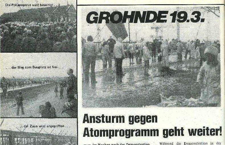 40 Jahre Widerstand gegen das AKW Grohnde – ein Geschichtsprojekt