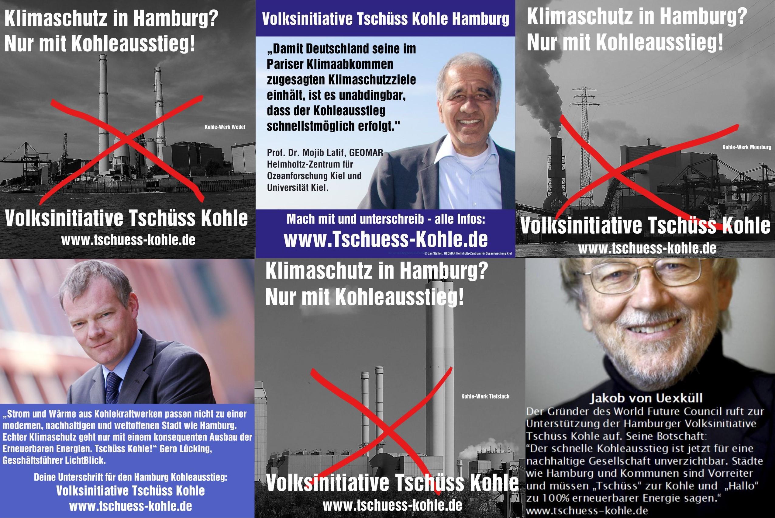 """Kohleausstieg statt Vattenfall – Hamburger Volksinitiative """"Tschüss Kohle"""" bekommt prominente Unterstützung"""