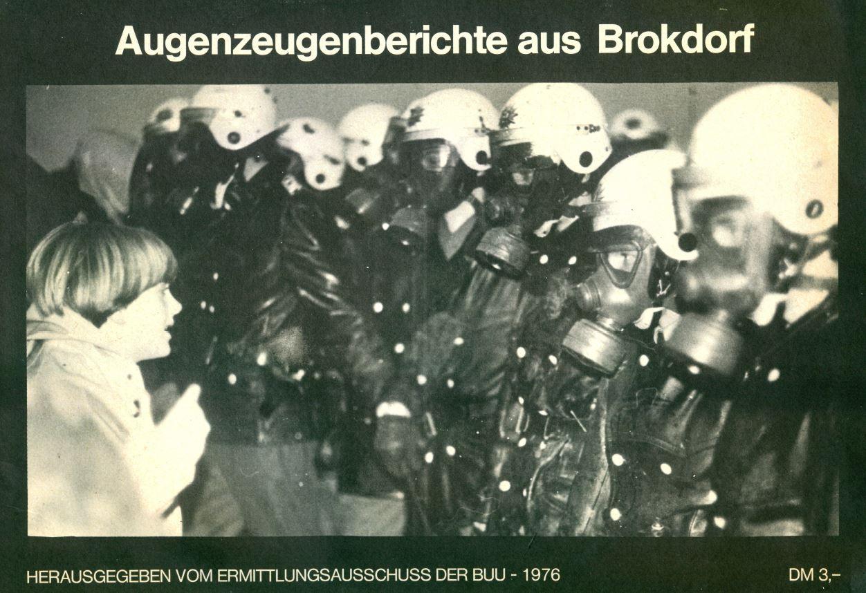 AKW Brokdorf war noch eine Wiese: PRESSEERKLÄRUNG DER BÜRGERINITIATIVEN UMWELTSCHUTZ UNTERELBE vom 3.12.1976: