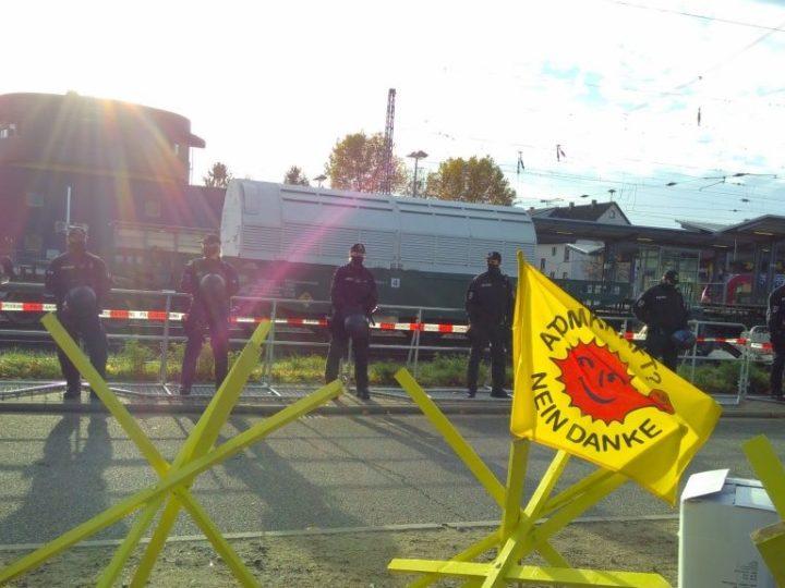 Hochradioaktive Strahlenfracht aus Plutoniumfabrik im Zwischenlager Biblis angekommen